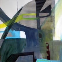 1 de Famille, 110x112cm, acrylique sur papier,2011