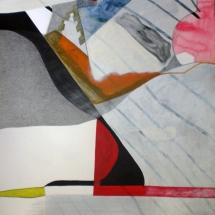 8 de Famille, 110x112cm, acrylique sur papier