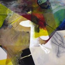 Boucle jaune, 120x150cm, acrylique sur toile, 2010