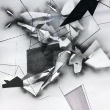 Brisure Fragment 2, 138x118cm, technique mixte sur papier