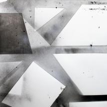 Complexité croissante 2, 120x80cm, technique mixte sur papier