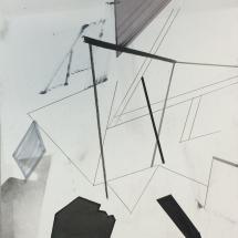 Dessin détail 1, 50x65cm, technique mixte sur papier