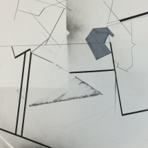 Dessin détail 2, 50x65cm, technique mixte sur papier