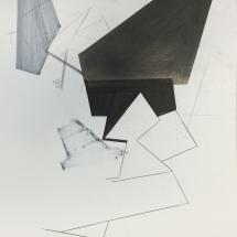 Dessin détail 8, 50x65cm, technique mixte sur papier