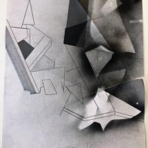 Eclat 1 - 1, 50x65cm, tecnique mixte sur papier