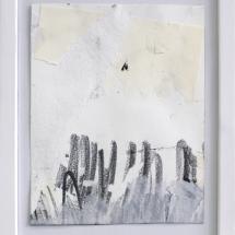 Effacé 1 - 15x19cm - technique mixte sur papier