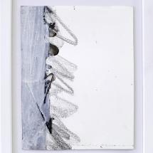 Effacé 4 - 15x19cm - technique mixte sur papier