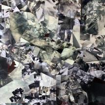Espace impossible VII - 1, 110x90x4cm, collages photographiques sur bois
