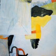 Fantôme jaune, 120x120cm, acrylique sur toile