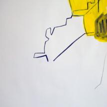 50x65cm- dessin-performance2- technique mixte sur papierPHOTO - art - installation - picture - kunst - studio - art contemporain - noir et blanc - peinture - dessin - espace - détail