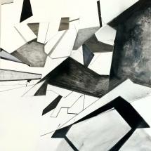 DEMONTAGE peint 2 - 116x75cm