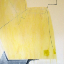 PEINTURE FRAGMENT 5- 161x119cm, technique mixte sur papier