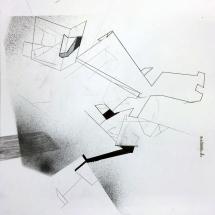 PHOTO - art - installation - picture - kunst - studio - art contemporain - noir et blanc - peinture - dessin - espace - détail papier