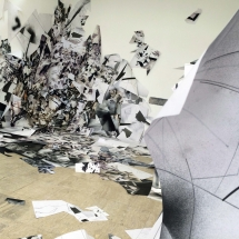 PHOTO - art - installation - picture - kunst - studio - art contemporain - noir et blanc - peinture - dessin - espace - détail