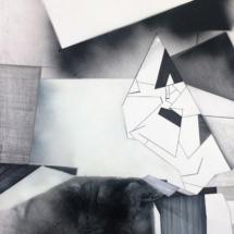 DétailPHOTO - art - installation - picture - kunst - studio - art contemporain - noir et blanc - peinture - dessin - espace