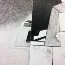 dessin - drawing now - drawing - kunst - art - art contemporain - espace - noir et blanc - Louisa Marajo