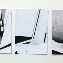 triptyque - dessin- exposition - galerie - martinique - Louisa Marajo
