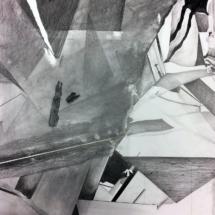dessin contemporain - chaos - chantier - art
