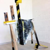 painting - trestle - sculpture - objet - art
