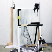 painting - installation - trestle - sculpture -