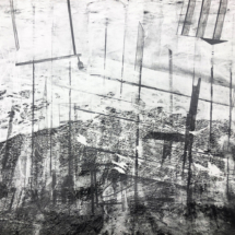 The foam of the sea - 90x67cm - drawing on photo - unique edition