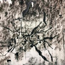 Sargassum mind - 120x90cm - drawing on photo - unique edition