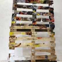 painting - wood - cardboard