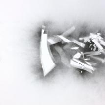 Brisure 3, 50x65cm, peinture aérosol sur papier