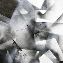 Complexité croissante 4, 120x80cm, technique mixte sur papier