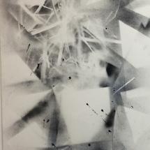 Complexité croissante - Fil 1, 120x80cm, technique mixte sur papier