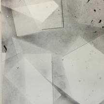 Complexité croissante S-II, 56x76cm, technique mixte sur papier
