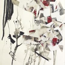 Eurêka,100x75cm, peinture et collage photographique sur papier