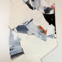 Fragment effacé 1, 27x42cm env., technique mixte sur papier