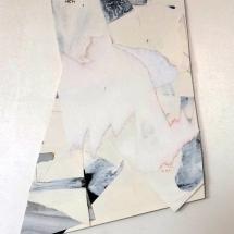 Fragment effacé 2, 27x42cm env., technique mixte sur papier