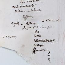 Poème atelier, 30x16cm env., crayon sur papier