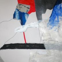 Rouge tache, 21x29.7, technique mixte sur papier, 2011