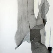 Sans-titre, 1000x70cm - technique mixte sur papier, 2009