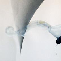 Sans-titre, 100x56cm, technique mixte sur papier