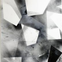 Complexité croissante PHOTO - art - installation - picture - kunst - studio - art contemporain - noir et blanc - peinture - dessin - espace - détail
