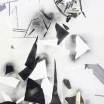 Instant d'atelier - ECLAT -PHOTO - art - installation - picture - kunst - studio - art contemporain - noir et blanc - peinture - dessin - espace - détail