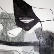 Noir-et-lignes,-29x50cm,-technique-mixte-sur-papier,-2010