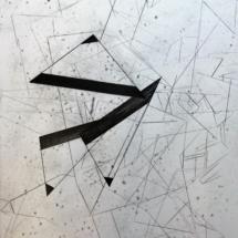 Plis sur plis - PHOTO - art - installation - picture - kunst - studio - art contemporain - noir et blanc - peinture - dessin - espace - détail