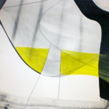 triptyque 2 - 49x50cm-technique mixte sur papier, collection privée