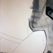 triptyque 3 - 49x50cm-technique mixte sur papier, collection privée PHOTO - art - installation - picture - kunst - studio - art contemporain - noir et blanc - peinture - dessin - espace - détail