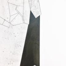 Fragment -PHOTO - art - installation - picture - kunst - studio - art contemporain - noir et blanc - peinture - dessin - espace