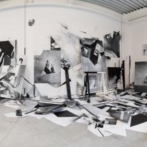 PHOTO - art - installation - picture - kunst - studio - art contemporain - noir et blanc