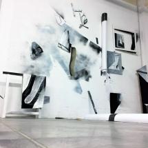 mur d'atelier - mai 2017 - louisa marajo