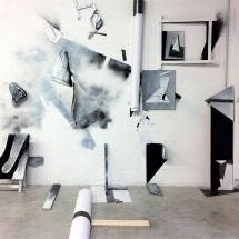 mur d'atelier 2 - mai 2017 - louisa Marajo