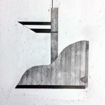FORMS OF CONSTRUCTION 4 - lead pencil on paper - 50x65cm