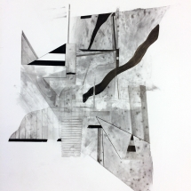 FORMS OF CONSTRUCTION 5 - lead pencil on paper - 50x65cm